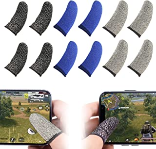 Mobile Gaming Controllers Finger Sleeve 4*black+4*blue+4*gray