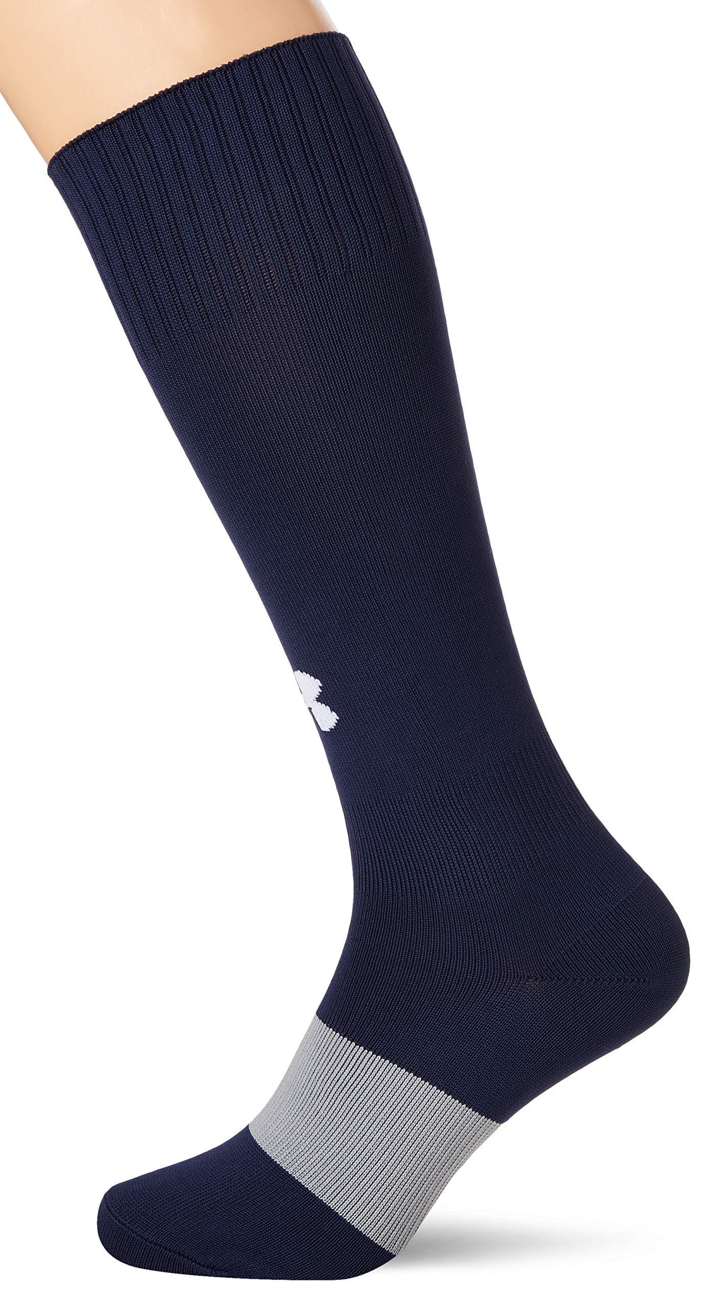 Under Armour Unisex Ua Soccer Solid Otc Sport Socken, Navyblau (Midnight Navy/Wh