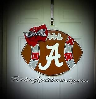 University of Alabama football door hanger wreath roll tide wreath