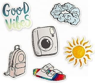 Cute VSCO Girl Themed Pack, 6 Pack VSCO Girl Stickers, VSCO Laptop Stickers VSCO, Basic White Girl Stickers for Water Bottles, VSCO Sticker, Made in Us (vsco Themed)