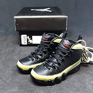 Pair Air Jordan IX 9 Retro Olive Black OG Sneakers Shoes 3D Keychain Figure 1:6 + Shoe Box