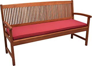 Beautissu Coussin Banc Jardin Loft BK Matelas extérieur pour terrasse, Balcon, véranda - 120x48x5 cm Rouge – Coussin Exter...