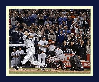 Derek Jeter Final Game Winning Hit At Yankee Stadium 11x14 Double Matted 8x10 Photo Swinging Last Hit At Bat