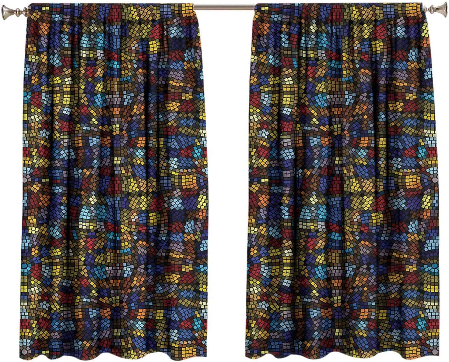 Antique Blackout Drapes for Bedroom Mosaic Ti ☆送料無料☆ 当日発送可能 春の新作シューズ満載 Medieval Victorian