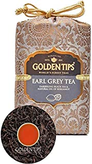 Golden Tips Darjeeling Earl Grey Black Tea   100 gm/3.53 oz, 50 Cups   100% Natural Whole Leaf Tea   Anti Oxidant Rich   N...