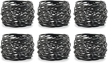 DII Modern Chic Napkin Rings for Dinner Parties, Weddings Receptions, Family Gatherings, or Everyday Use, Set Your Table W...
