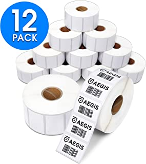 "Aegis Adhesives - 1 ½"" X 1"" Direct Thermal Labels, Perforated & Compatible with Rollo Label Printer & Zebra Desktop Printers (12 Rolls, 1300/Roll)"