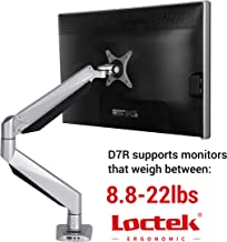 Loctek Monitor Mount Heavy Duty Single LCD Arm Stand Desk Mount Supports Heavy Monitors, Fits for 17-34 inches Monitor, Support Weighting from 8.8-22 lbs