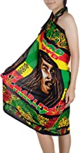 Rhythm of Bob Marley Beachwear Cover up Swimsuit Women Pareo Sarong
