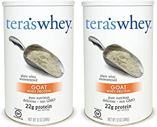 Goat's Whey Protein , Plain , 12 oz ( Pack of 2)