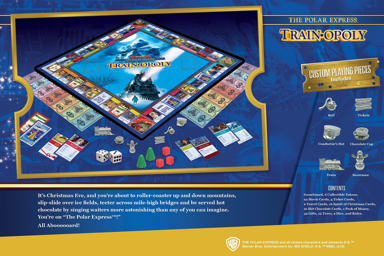 MasterPieces Polar Express Opoly Board Game by: Amazon.es: Juguetes y juegos