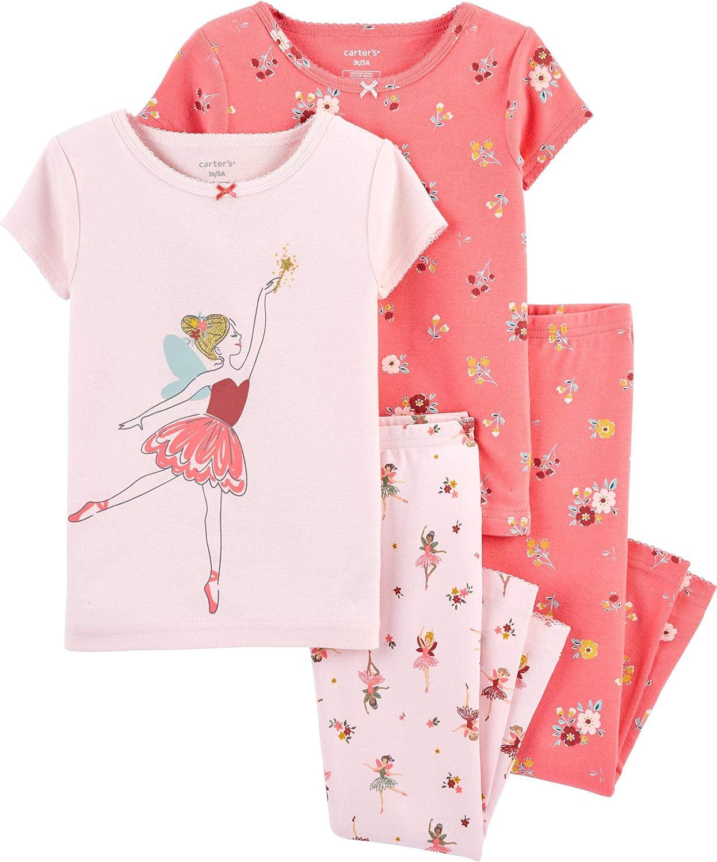 Mail order Carter's Toddler Girls 4 Piece Ballet Long Beach Mall Set Fairy Cotton Pajamas