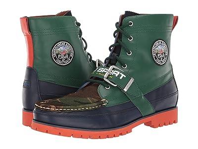Polo Ralph Lauren Ranger (Green Color Block Leather/Suede) Men