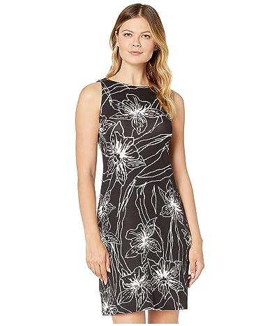 Tommy Bahama Vista Blooms Sleeveless Sheath Dress (Black) Women