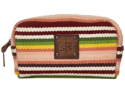 STS Ranchwear Buffalo Girl Serape Cosmetic Bag (Maroon/Pink/Green) Bags