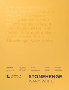 Legion Stonehenge Pad , 15 Sheets, 9 By 12 Inches, Warm White Sheets