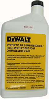 DEWALT D55001 Synthetic Compressor Oil, 1 Quart