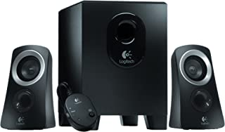 Logitech Z313 2.1 Multimedia Speaker System with Subwoofer, Full Range Audio, 50 Watts Peak Power, Strong Bass, 3.5mm Audio Inputs, Control Pod, PC/PS4/Xbox/TV/Smartphone/Tablet/Music Player - Black