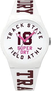 Superdry Women's Urban Quartz Watch with Silicone Strap, White, 18 (Model: SYL182VW)