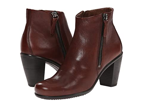 Womens Boots ECCO Touch 75 Ankle Bootie Mahogany Cow Nubuck