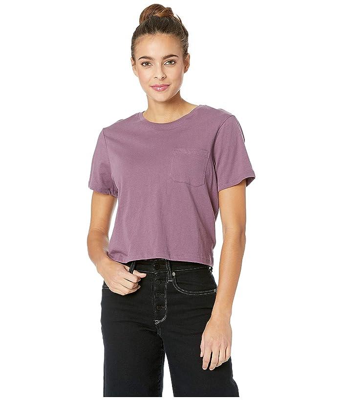 Richer Poorer Boxy Crop Tee (Plum) Women's T Shirt