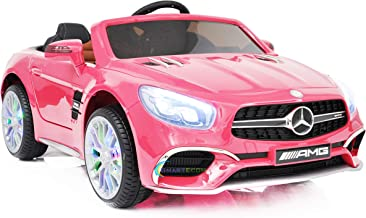 Dollys Shop Ride On Toys - Electric 12V Powered Mercedes Benz Car for Kids - 12V Battery Remote Control Car - Ride On Car for Kids - MP3 LED Wheels MP4 Touch Screen Pink