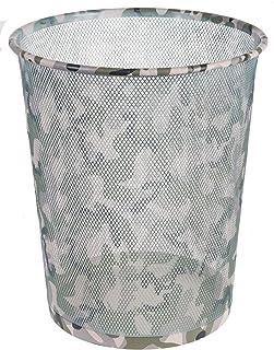 Idena 12097 Corbeille à papier en métal Camouflage Env. 10,8 l