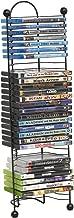 Atlantic Nestable 32 DVD/Blu-Ray/Games Rack - Space Saving Modern Design, Durable Steel Construction PN63712046 in Black