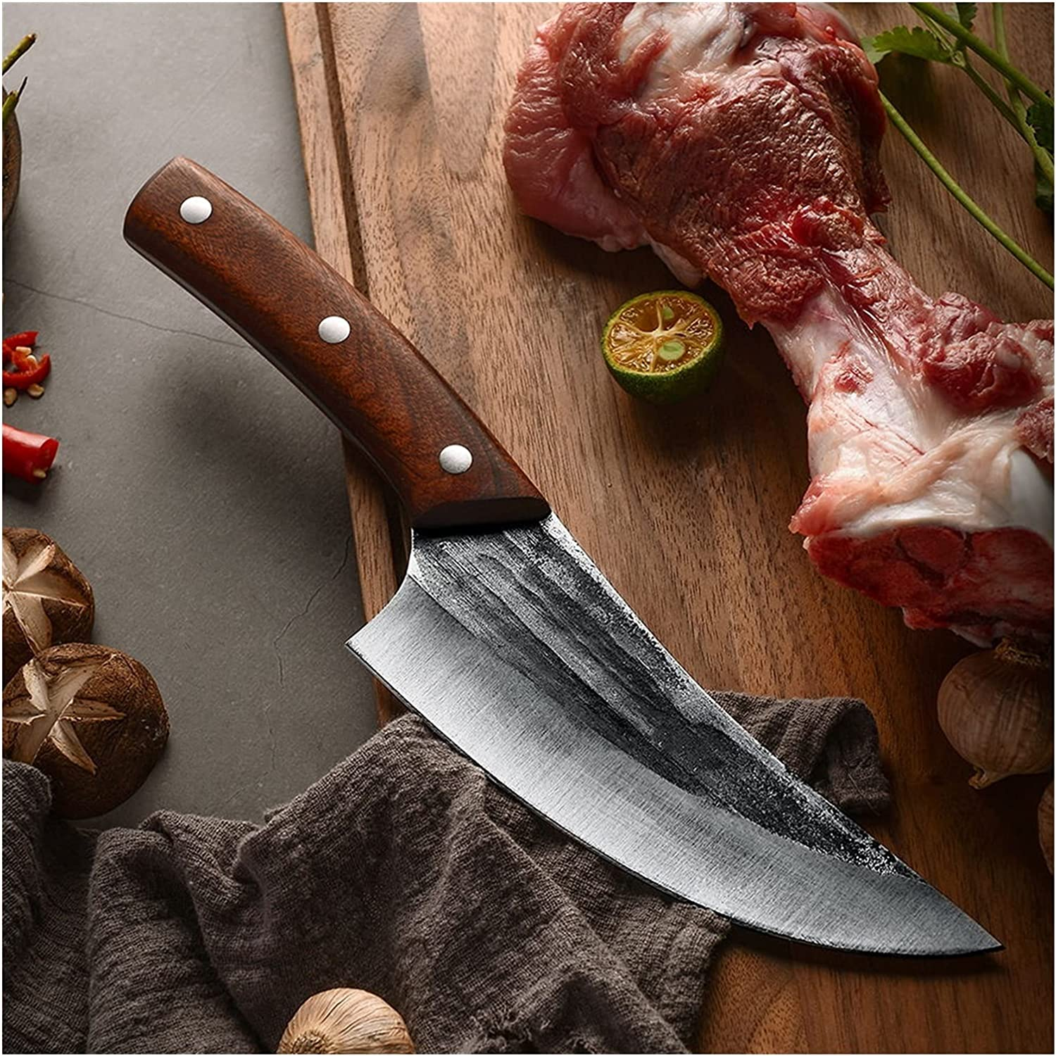 Meat Cleaver Chef Knife Handmade Brand new Steel OFFicial shop Boning Carbon Forge