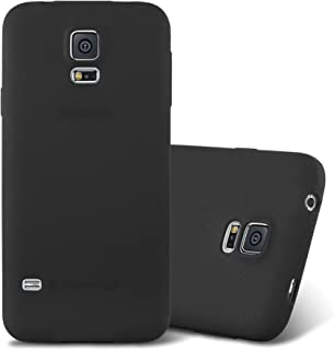 Cadorabo Case Works with Samsung Galaxy S5 / S5 NEO in Frost Black – Shockproof and Scratch Resistant TPU Silicone Cover – Ultra Slim Protective Gel Shell Bumper Back Skin