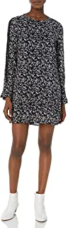 Michael Stars Women's Floral Romance Long Sleeve Flounce Dress with Lace