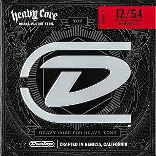 Dunlop DHCN1254 Heavy Core Nickel Wound Guitar Strings, Heaviest, .012–.054, 6 Strings/Set