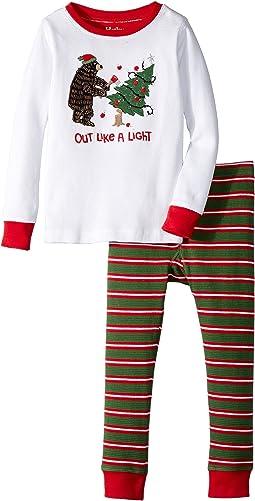 Out Like a Light Waffle PJ Set (Toddler/Little Kids/Big Kids)
