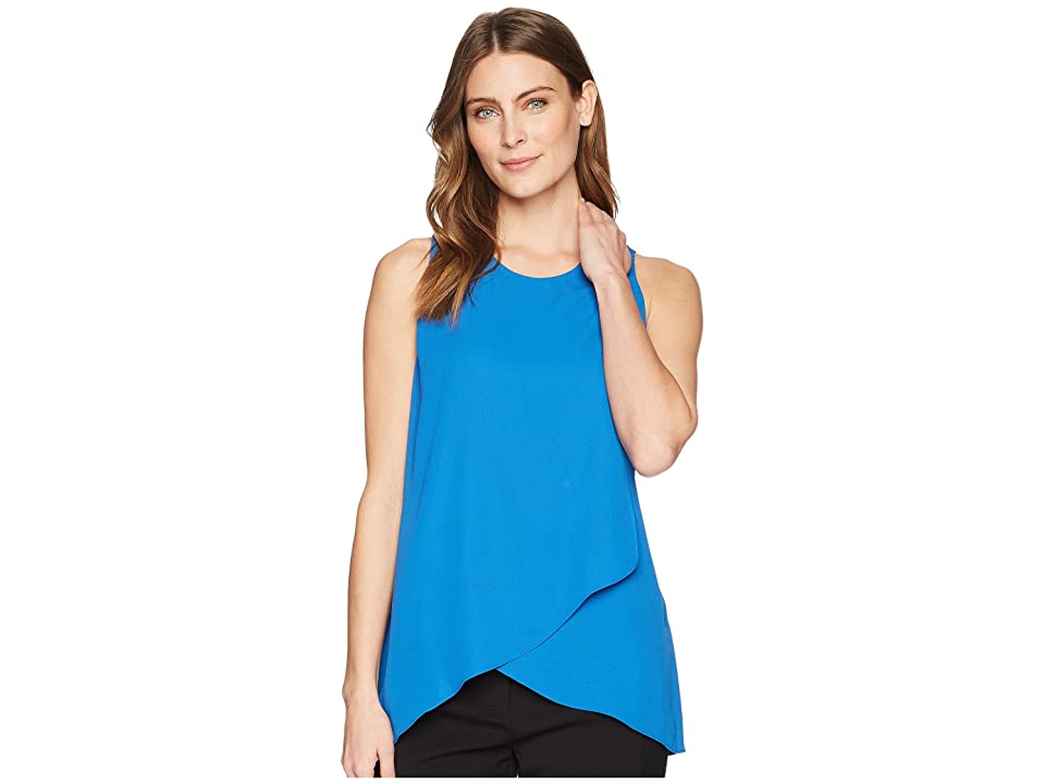 Karen Kane Asymmetric Side-Drape Top (Cobalt) Women