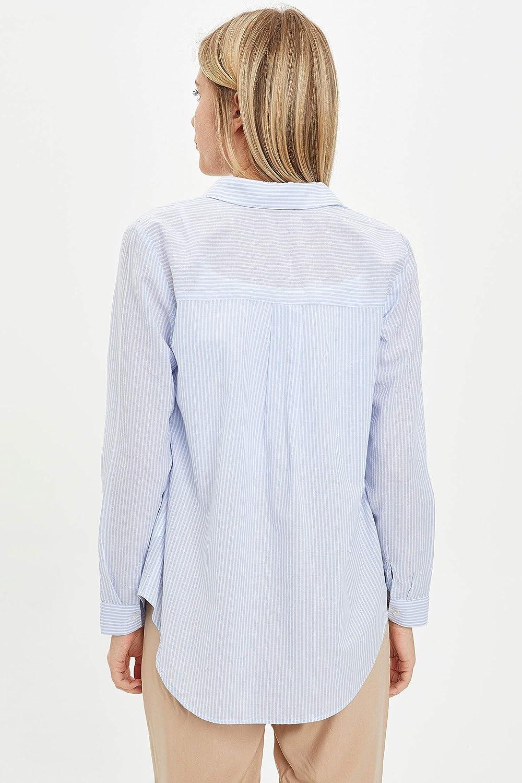 DeFacto Camiseta de manga larga para mujer.