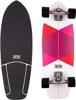 Triton Carver - Tabla de skate de surf (29 pulgadas), diseño de diamante rojo