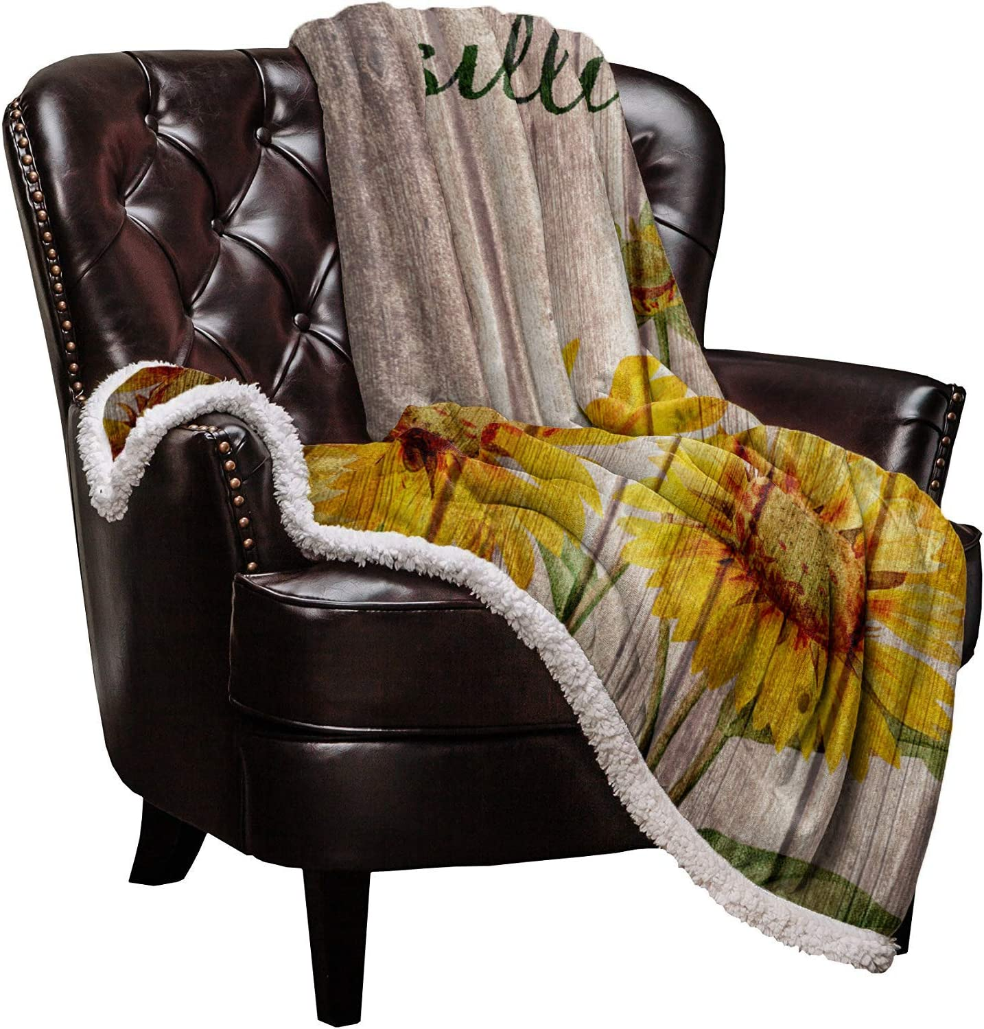 Sherpa Fleece Throw Fixed Time sale price for sale Blanket Sunflower Soft Warm Blankets Blooms