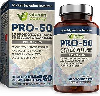 Best Vitamin Bounty - Pro 50 Probiotic - 13 Probiotic Strains, 50 Billion Organisms Per Serving (1 Pack) Review
