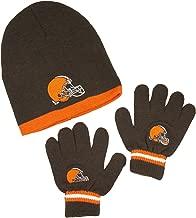 Cleveland Browns NFL Little Boys Knit Hat and Gloves Set - Brown (Kids 4-7)