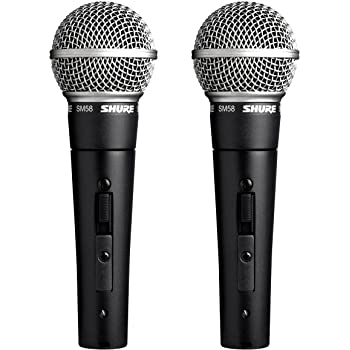 Shure SM58S Rugged Professional Studio Vocal Microphone w/On/Off Switch(2 Pack)