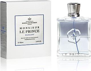 Monsieur Le Prince Elegant by Princesse Marina de Bourbon | Eau de Parfum Spray | Fragrance for Men | Masculine and Fresh Scent with Notes of Vetiver, Mint, and Violet Leaf | 100 mL / 3.4 fl oz