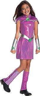 Rubie's Costume Girls DC Superhero Deluxe Starfire Costume, Medium, Multicolor