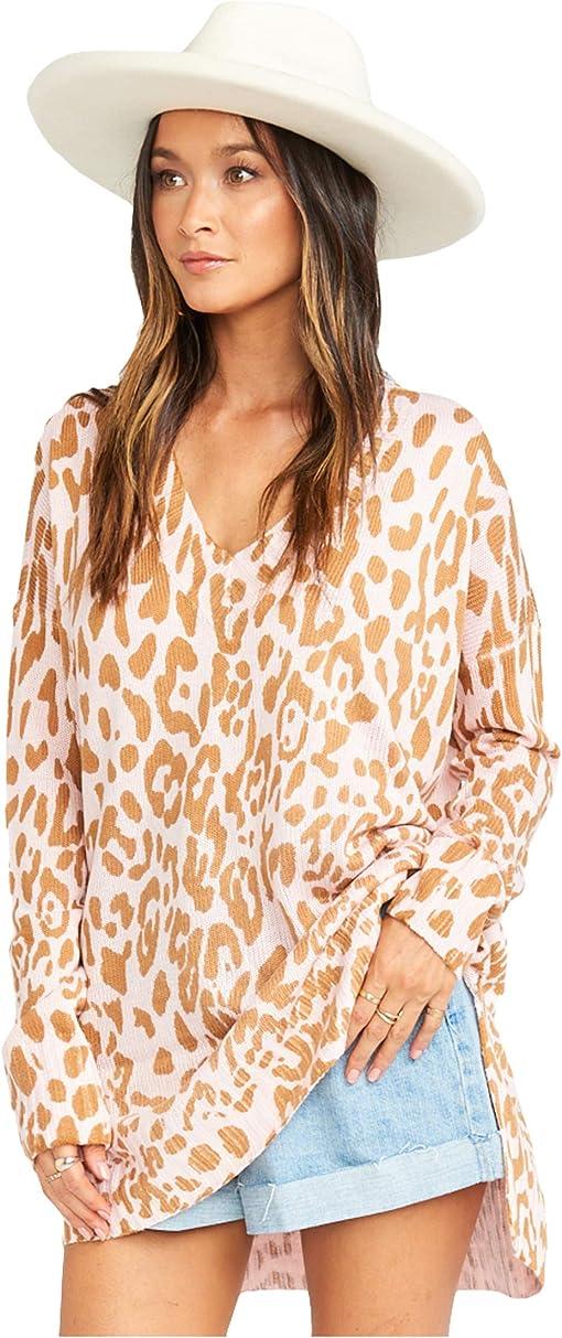 Pink Leopard Knit