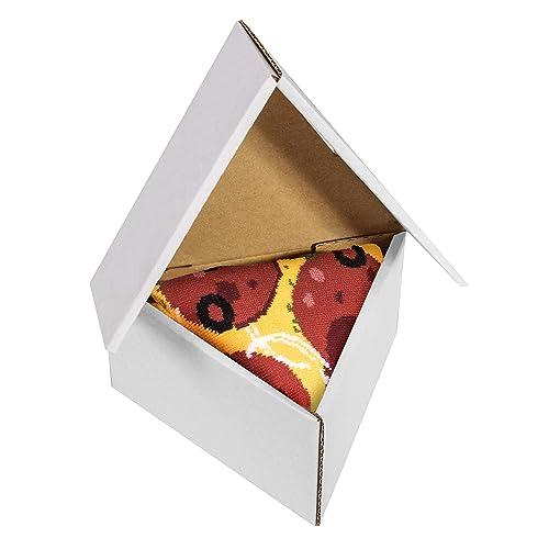 Pizza Socks Box Slice Pepperoni - Mujer Hombre - 1 par de Calcetines