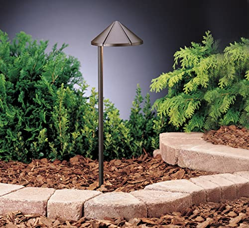 high quality Kichler 15315AZT 2021 Six Groove Path & Spread 1-Light online 12V, Textured Architectural Bronze online sale