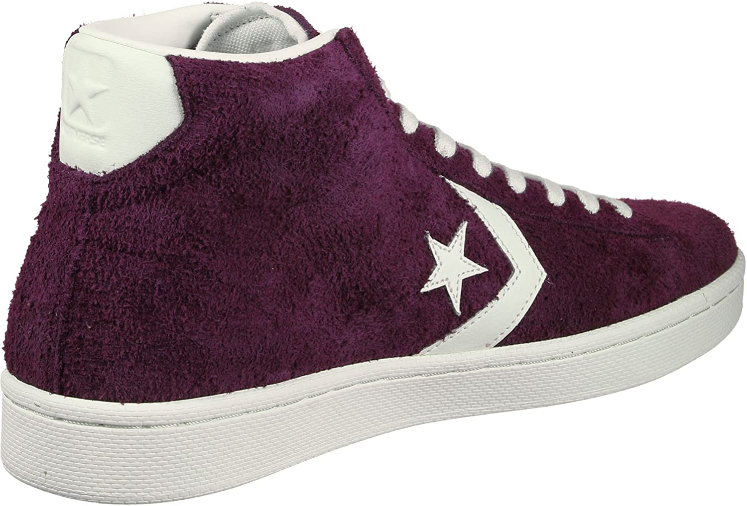 Converse Unisex Adults' Pro Leather Mid Hi-Top Trainers Purple