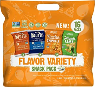 Snyder's-Lance Flavor Snack Variety Pack with Kettle Brand Potato Chips and Late July Tortilla Chips, 16 Count