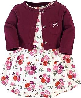Girls' Cotton Dress and Cardigan Set