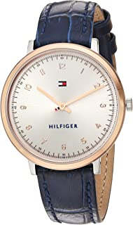 Tommy Hilfiger Women's 'SPORT' Quartz Gold and Leather Casual Watch, Color: Blue (Model: 1781764)