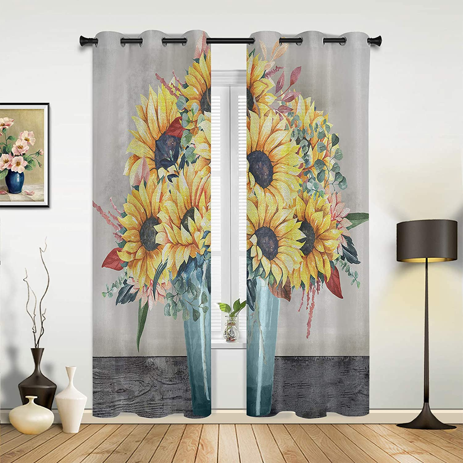Window Max 81% OFF Curtains Drapes Panels Oil Dreamlike National products Painting Sun Texture